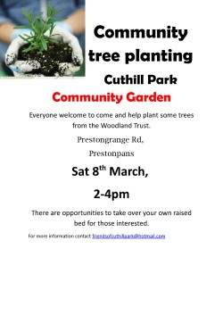 Community Planting Day @ Cuthill Park Community Garden | United Kingdom