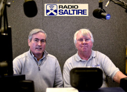 Iain Grey and Andy Morris in the Radio Saltire studio