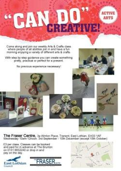 Arts & Crafts at Fraser Centre @ The Fraser Centre | Tranent | United Kingdom